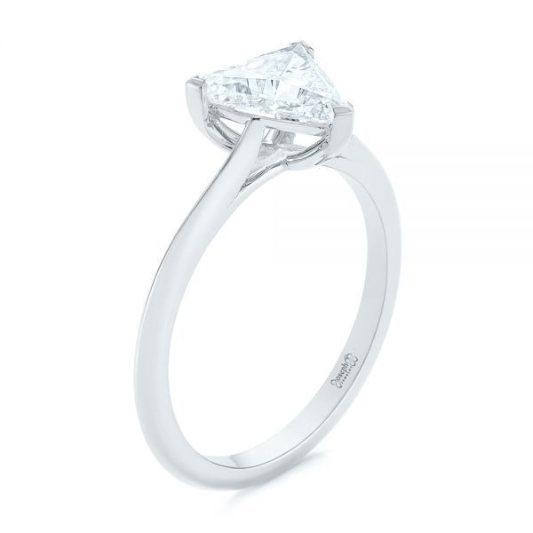 Custom Trillion Diamond Solitaire Engagement Ring - Image