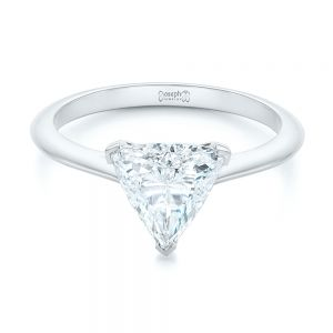 Custom Trillion Diamond Solitaire Engagement Ring