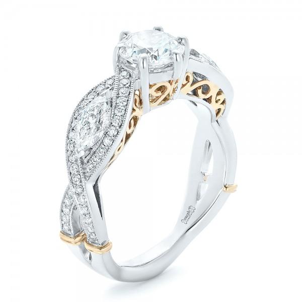 custom gold three blue sapphire and