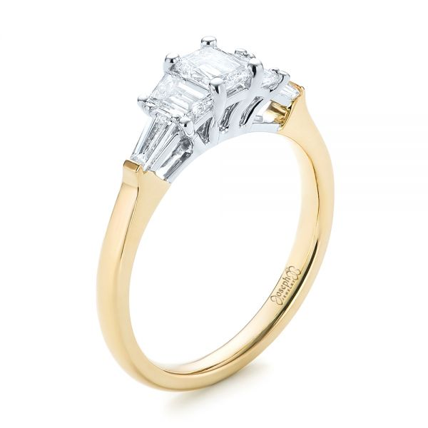 Custom Two-Tone Diamond Engagement Ring - Image