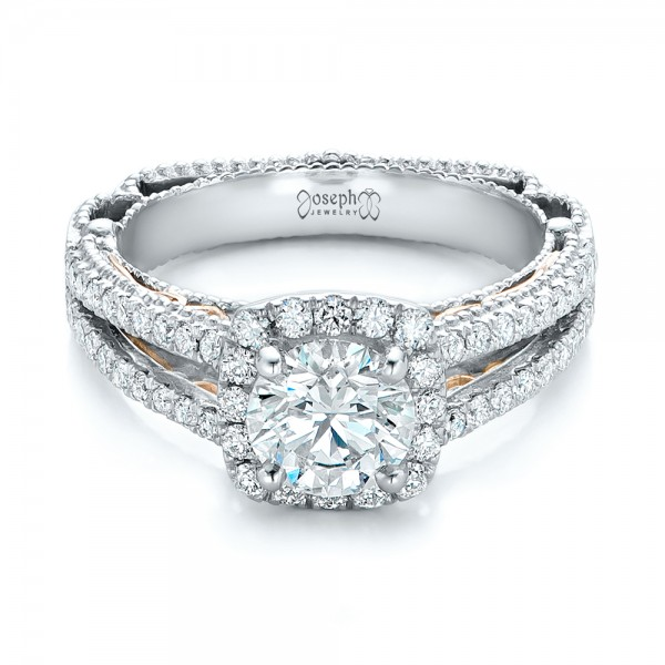 custom two tone engagement ring 102127
