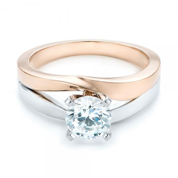 custom two tone engagement ring 102587