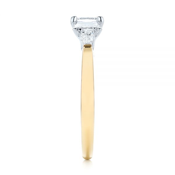Custom Two-Tone Diamond Engagement Ring - Side View