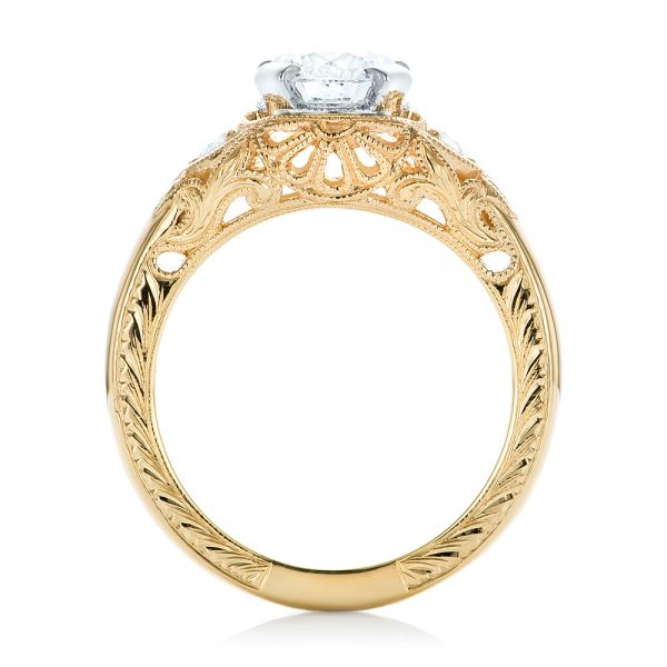 custom vintage diamond yellow gold engagement ring 102797