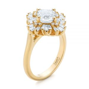 Custom Vintage Style Asscher Diamond Engagement Ring - Image