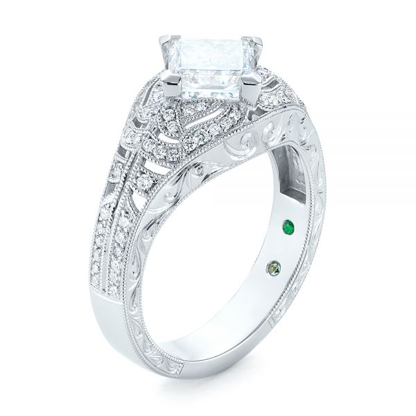 Custom Vintage Style Diamond Engagement Ring - Image