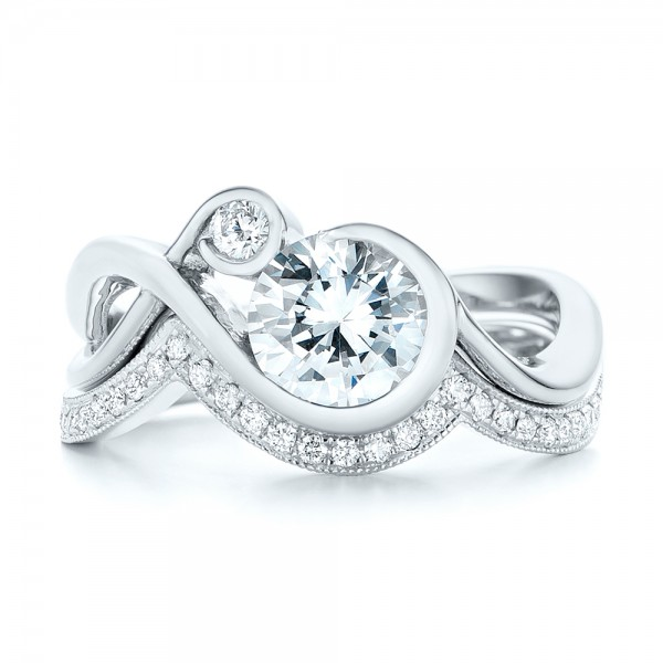 Wrap Diamond Engagement Ring - Top View