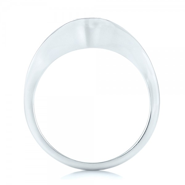 Wrapped Diamond Engagement Ring - Finger Through View