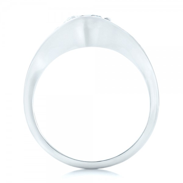 Wrapped Solitaire Engagement Ring - Finger Through View
