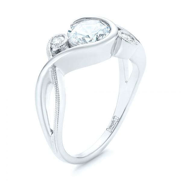 Custom Wrapped Three-stone Diamond Engagement Ring