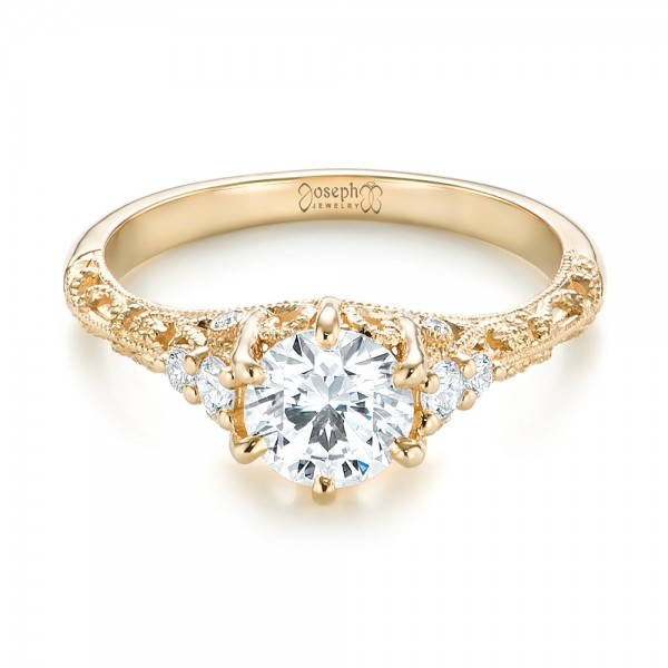 custom yellow gold engagement ring 103227