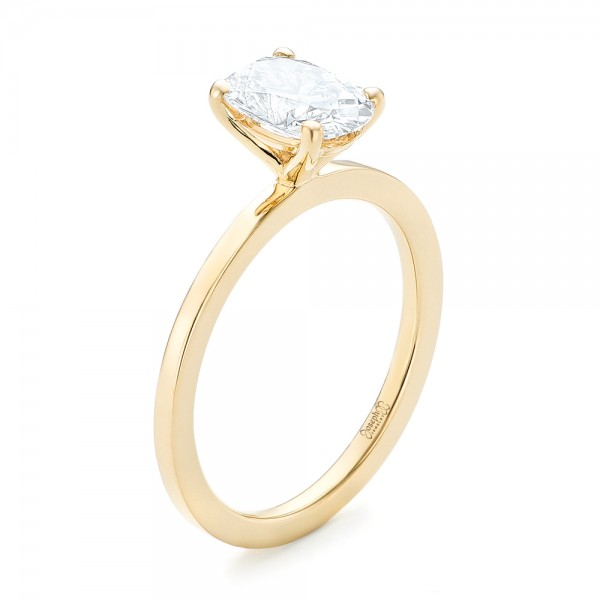 custom yellow gold solitaire engagement ring 102876