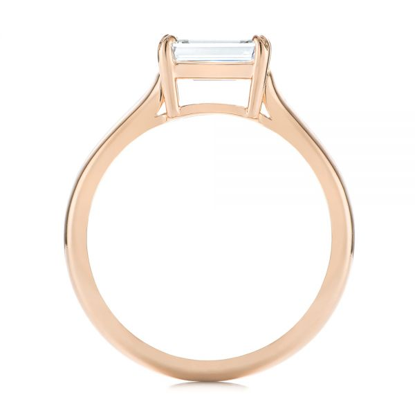 18k Rose Gold 18k Rose Gold Custom Solitaire Engagement Ring - Front View -  104066