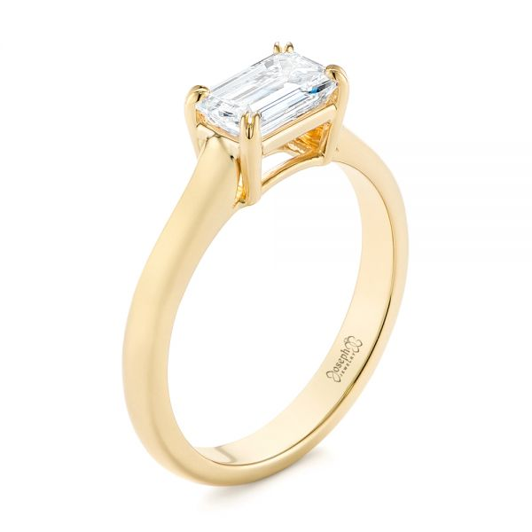 Custom Yellow Gold Solitaire Engagement Ring - Image