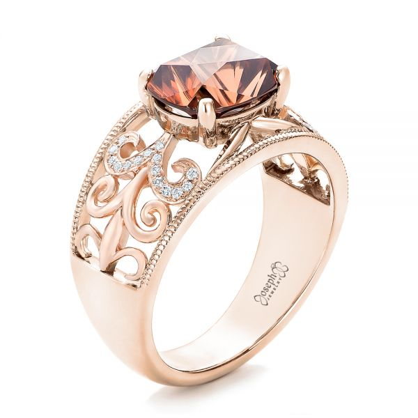 Custom Zircon And Diamond Two Tone Wedding Ring 101746 Seattle