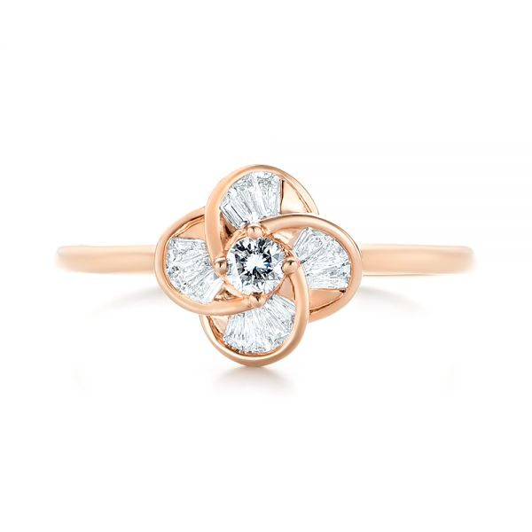 Diamond Engagement Ring - Top View -  103675 - Thumbnail