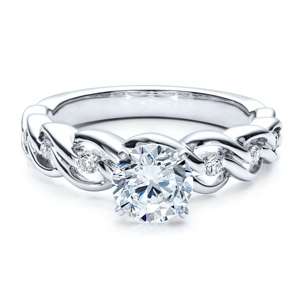 Diamond Engagement Ring - Vanna K - Flat View -  1460 - Thumbnail