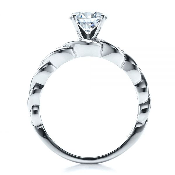 Diamond Engagement Ring - Vanna K - Front View -  1460 - Thumbnail