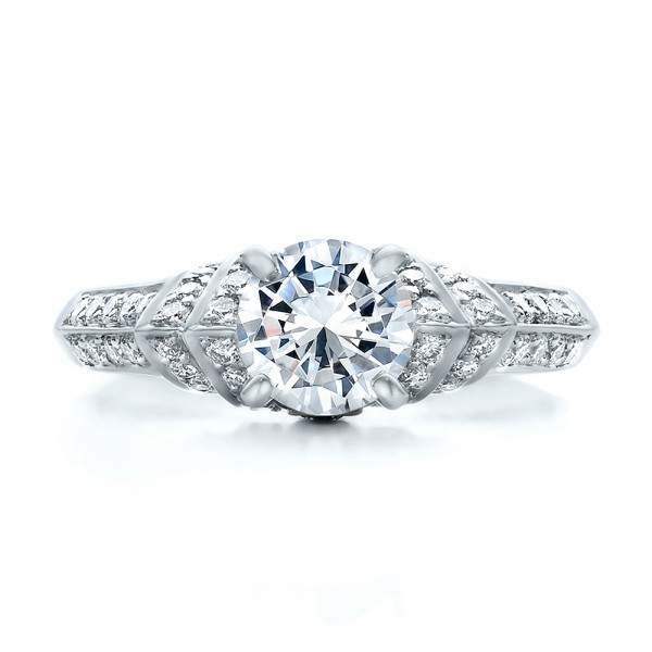 Diamond Engagement Ring - Vanna K - Top View