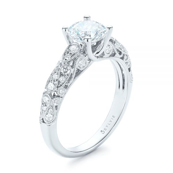 Diamond Engagement Ring - Three-Quarter View -  103063 - Thumbnail