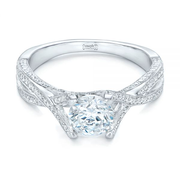 Diamond Engagement Ring - Flat View -  100365 - Thumbnail