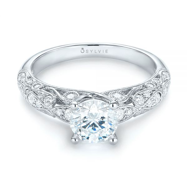 Diamond Engagement Ring - Flat View -  103063 - Thumbnail