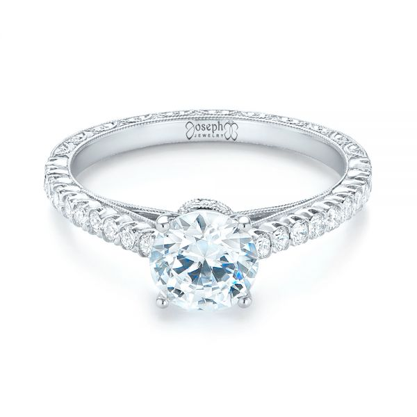 Diamond Engagement Ring - Flat View -  103713 - Thumbnail