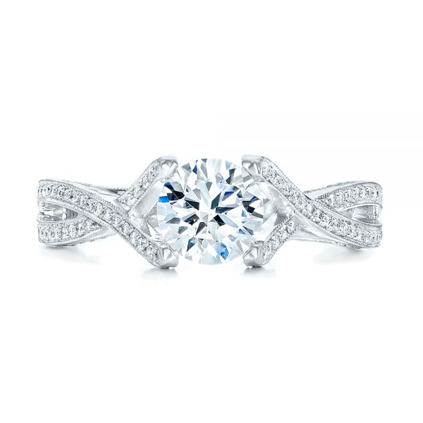 Diamond Engagement Ring - Top View -  100365 - Thumbnail