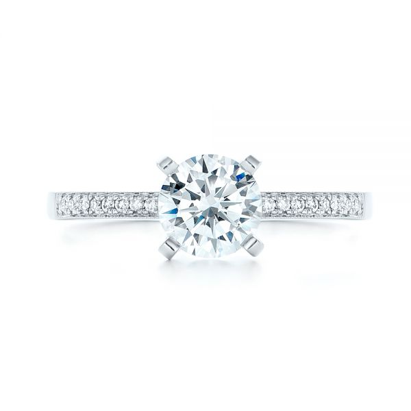 Diamond Engagement Ring - Top View -  102585 - Thumbnail