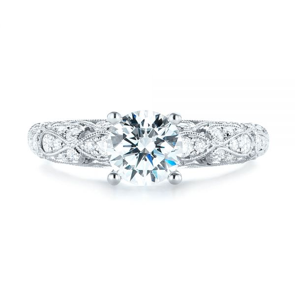 Diamond Engagement Ring - Top View -  103063 - Thumbnail