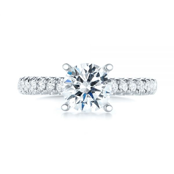 Diamond Engagement Ring - Top View -  103682 - Thumbnail