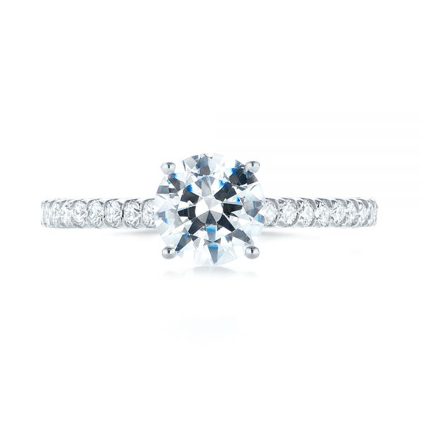 Diamond Engagement Ring - Top View -  103713 - Thumbnail