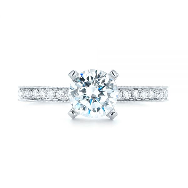 Diamond Engagement Ring - Top View -  103832 - Thumbnail