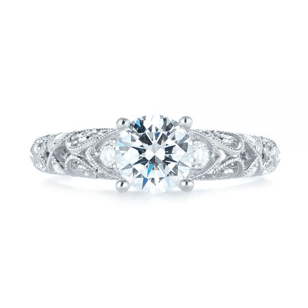Diamond Engagement Ring - Top View -  103901 - Thumbnail