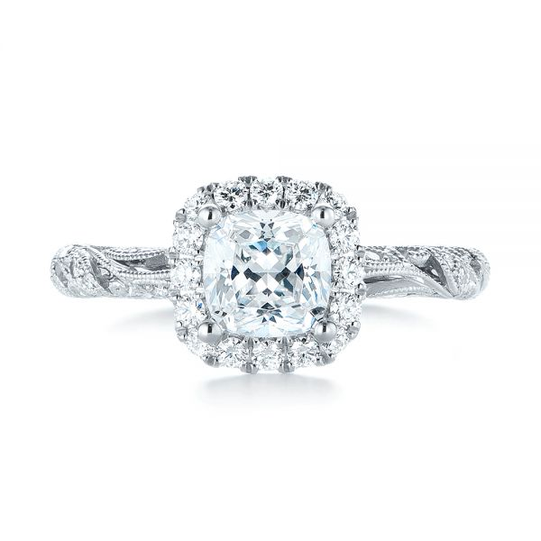 Diamond Engagement Ring - Top View -  103908 - Thumbnail