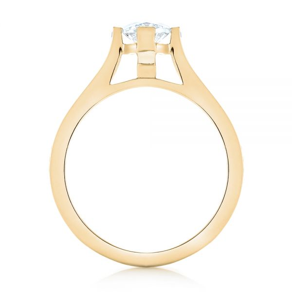 14k Yellow Gold 14k Yellow Gold Diamond Engagement Ring - Front View -