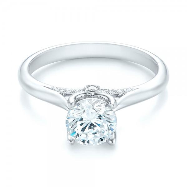 Diamond Engagement Ring - Laying View