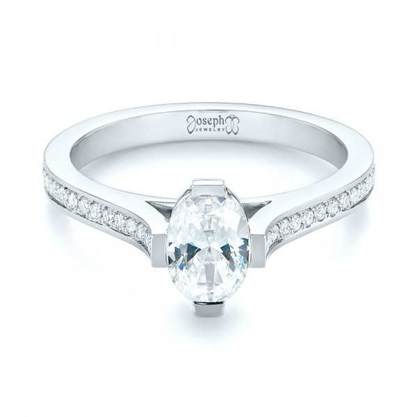 Diamond Engagement Ring - Laying View