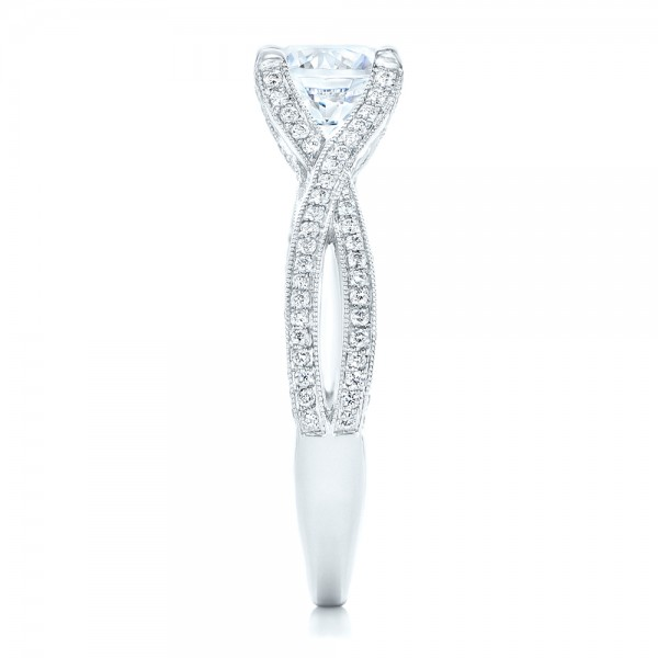 Diamond Engagement Ring - Side View