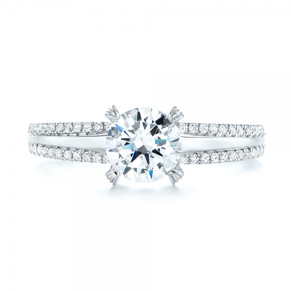 Diamond Engagement Ring - Top View
