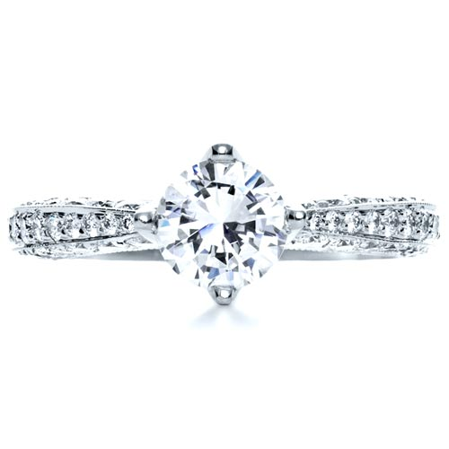 Diamond Engagment Ring - Top View