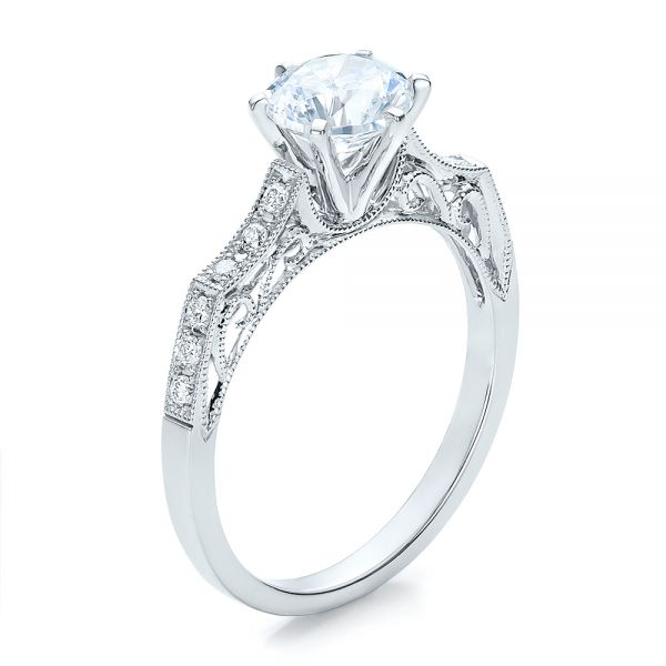 Diamond Filigree Engagement Ring - Vanna K - Image
