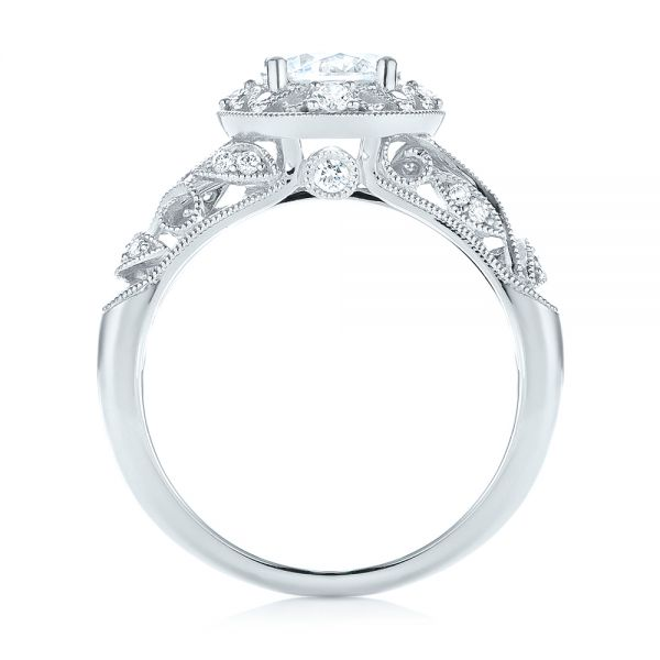 Diamond Halo Engagement Ring - Front View -  103906 - Thumbnail