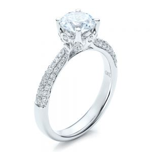 Diamond Pave Engagement Ring - Image