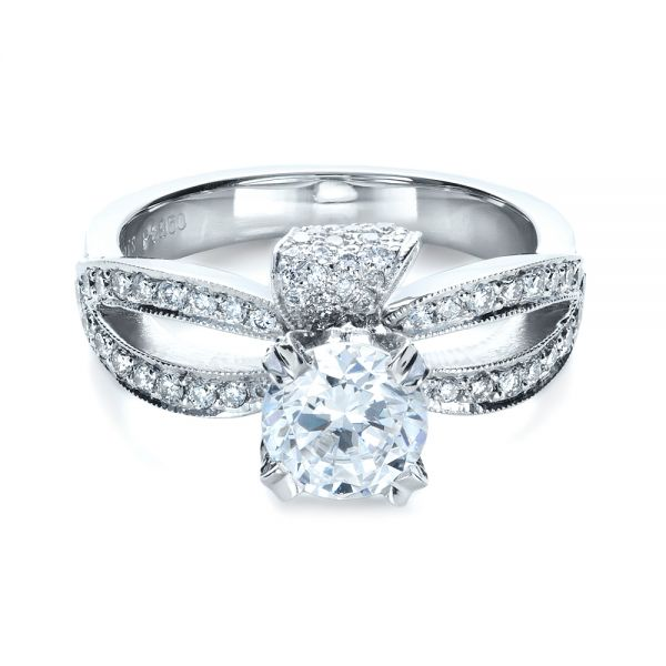Diamond Pave Engagement Ring -  1281