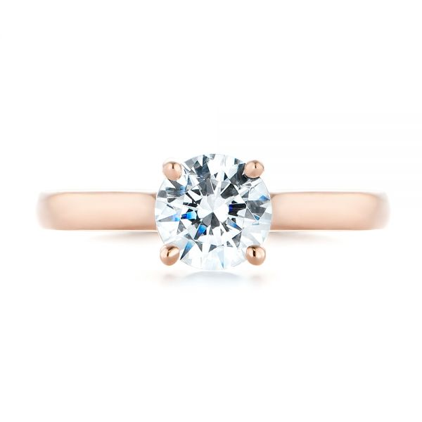 Diamond Solitaire Engagement Ring - Top View -  104186 - Thumbnail