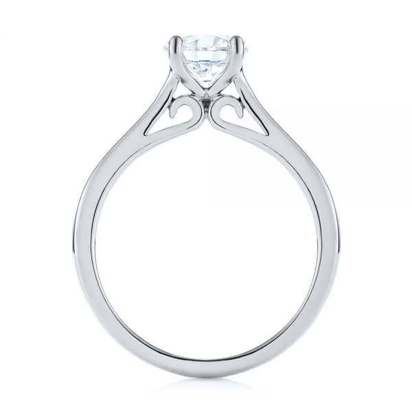 Platinum Platinum Diamond Solitaire Engagement Ring - Front View -