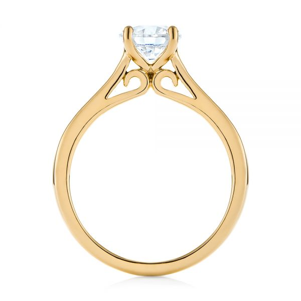 14k Yellow Gold 14k Yellow Gold Diamond Solitaire Engagement Ring - Front View -