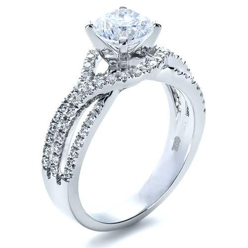 Diamond Split Shank Engagement Ring