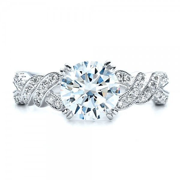 Diamond Split Shank Engagement Ring - Kirk Kara